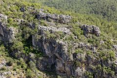 Rock formations in mountains Royalty Free Stock Photo