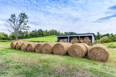 Hay Bales Ready For Winter stock photos