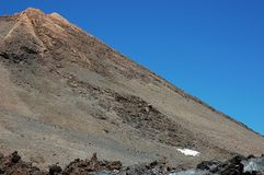 Cropped shot of the summit of Pico del Teide, Tenerife, Canary Islands, Spain Royalty Free Stock Image