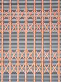 Horizontal Shutter Door. Orange and gray Horizontal Shutter Door stock images