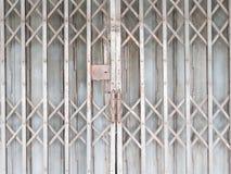 Horizontal Shutter Doors. Old gray Horizontal Shutter Doors stock photo