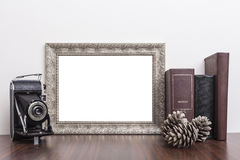 Horizontal Silver Frame Stock Images