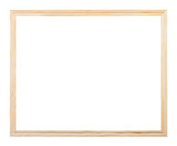 Horizontal simple narrow unpainted picture frame Stock Images