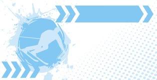 Horizontal ski banner Royalty Free Stock Photo