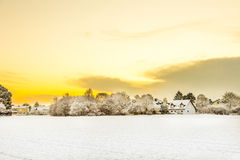 Horizontal Snow-Covered Images stock