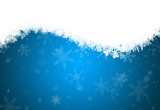 A horizontal snowflake background Stock Photos