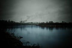 Horizontal sombre Photos libres de droits