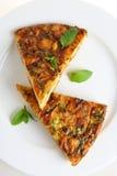 Horizontal Spanish omelet Royalty Free Stock Images