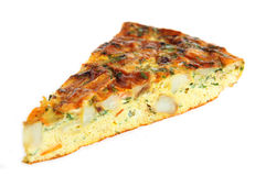 Horizontal Spanish omelet Royalty Free Stock Photography