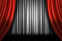 Horizontal Stage Drapes Stock Images