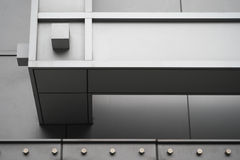 Horizontal Steel Supports of Shopping Mall Stock Photos