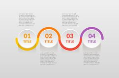 Horizontal Steps infographics - can illustrate a strategy, workflow or team work, timeline, vector flat color.  Stock Photography