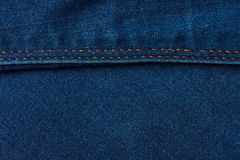 Horizontal stiches on jeans background Stock Image