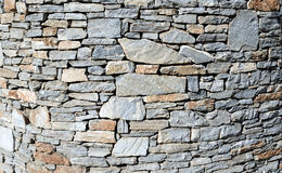 Horizontal stone wall Stock Image