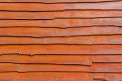 Horizontal stripes wood panel background in darken tone Stock Image