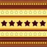 Horizontal stripy background with stars Stock Image