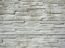 Horizontal strukturierte weiße Backsteinmauer Stockbild