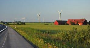 Horizontal suédois de moulins à vent Photos stock
