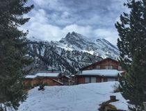 Horizontal suisse de l'hiver Photos libres de droits