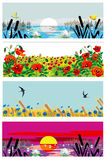 Horizontal summer banners Royalty Free Stock Photo