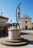 Horizontal Sundial in Aiello royalty free stock image