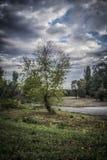 Horizontal tôt d'automne photographie stock