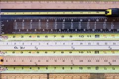 Horizontal Tape Measures stock images