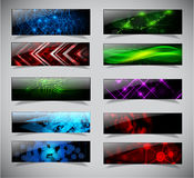 Horizontal banner set. Royalty Free Stock Photography