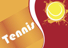 Horizontal tennis banner.Abstract dots.Tennis background Royalty Free Stock Images
