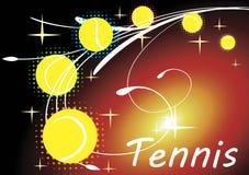 Horizontal tennis banner Royalty Free Stock Image