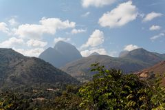 Horizontal Teresopolis de montagnes image stock