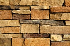 Horizontal Texture of The Asymmetrical Brick Wall Royalty Free Stock Image