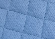 Horizontal Texture of Blue Upholstery Fabric Pattern Background Stock Photography