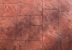 Horizontal Texture of The Brown Stone Floor Stock Images