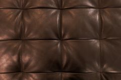 Horizontal Texture of Brown Upholstery Leather Pattern Background Stock Photo