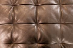 Horizontal Texture of Brown Upholstery Leather Pattern Background Royalty Free Stock Image