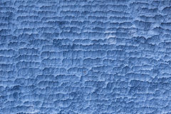 Horizontal texture on concrete wall in blue color Stock Photography