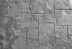 Horizontal Texture of The Gray Rock Floor Royalty Free Stock Photography
