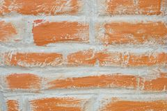 Horizontal Texture of The Red Brick Wall. Background Pattern, The Horizontal Red Brick Wall Background or Texture Stock Photos
