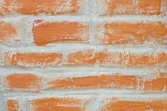 Horizontal Texture of The Red Brick Wall Stock Photos