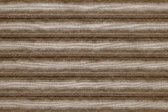 Horizontal texture of striped fabric brown color Stock Photos