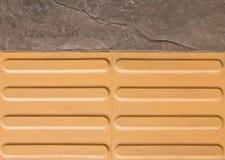 Horizontal Texture of Tarmac Road and Tactile Paving Royalty Free Stock Photos