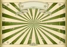Horizontal textured vintage background. A vintage horizontal poster with green sunbeams for you. Perfect size for a screen Royalty Free Stock Photography