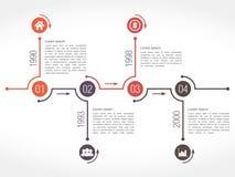 Horizontal Timeline Design Template Stock Image