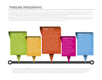 Horizontal timeline template Stock Photo
