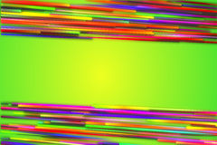 Horizontal Top Bottom Rainbow straight Line Glow Green Background Royalty Free Stock Photos