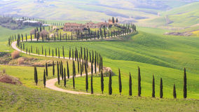 Horizontal, Toscane Val d'Orcia Photo stock