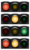 Horizontal traffic-light. Stock Images