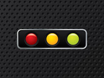 Horizontal traffic light design Royalty Free Stock Photos