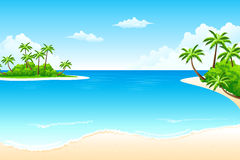 Horizontal tropical Photo libre de droits